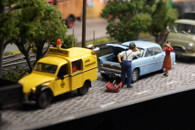 Autopech in modelspoor