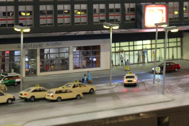 Modelspoor Taxistandplaats