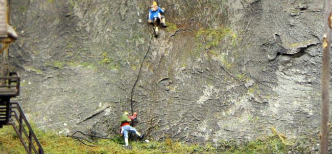 modelspoor bergbeklimmers touw