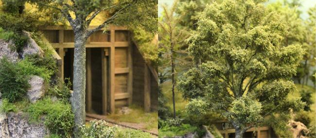 boomschors / bladeren modelspoor bomen