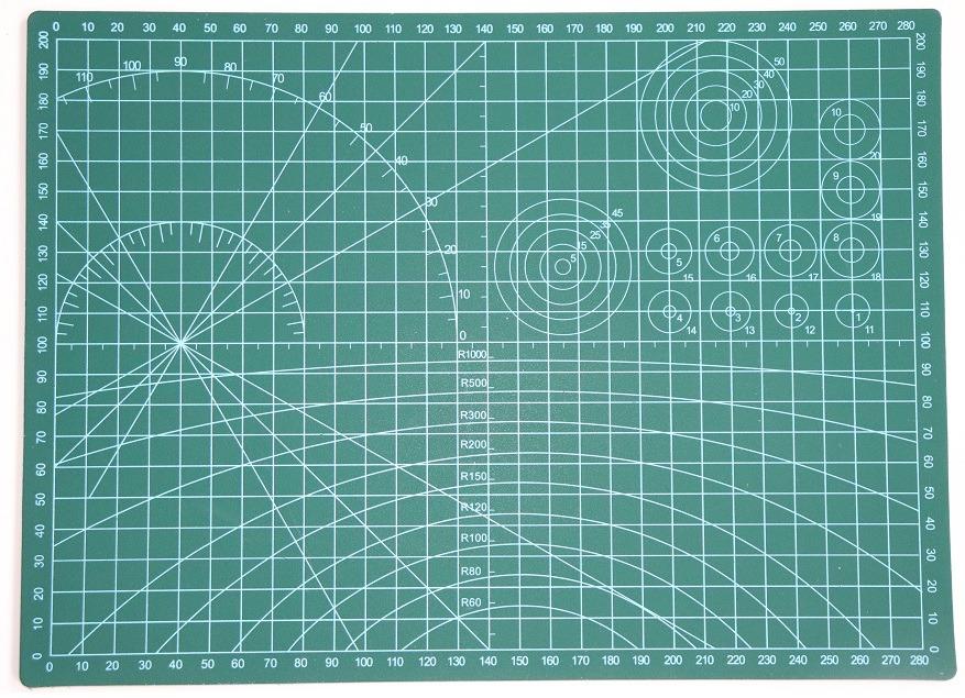 Modelbouw snijmat of tekenplaat achterkant