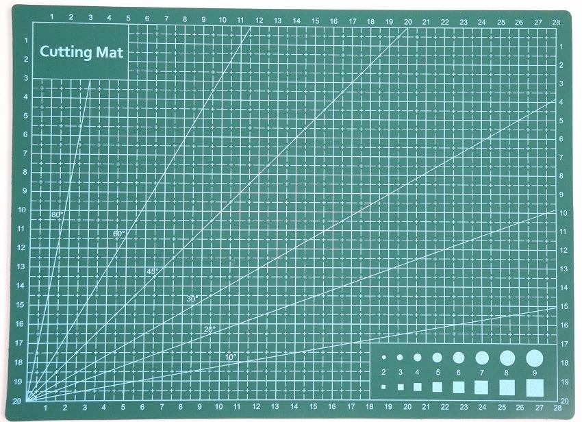 Modelbouw snijmat of tekenplaat voorkant