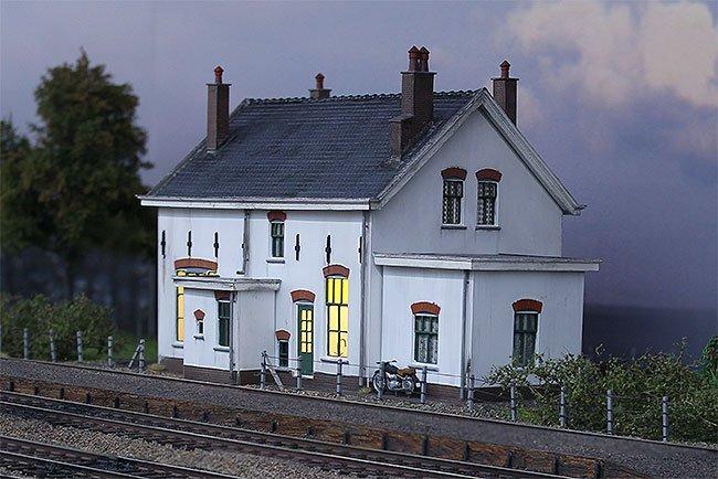 Station Sauwerd op de modeltrein expo