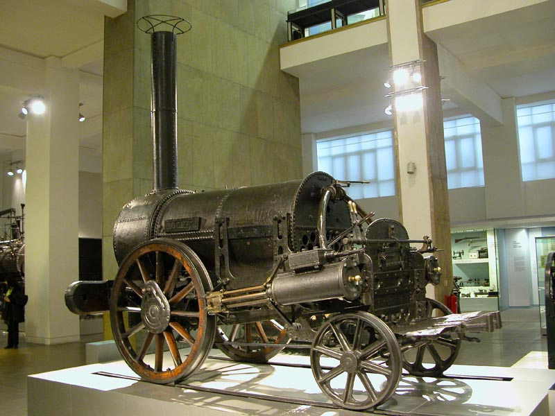 Stephenson's Rocket in het Science Museum Londen