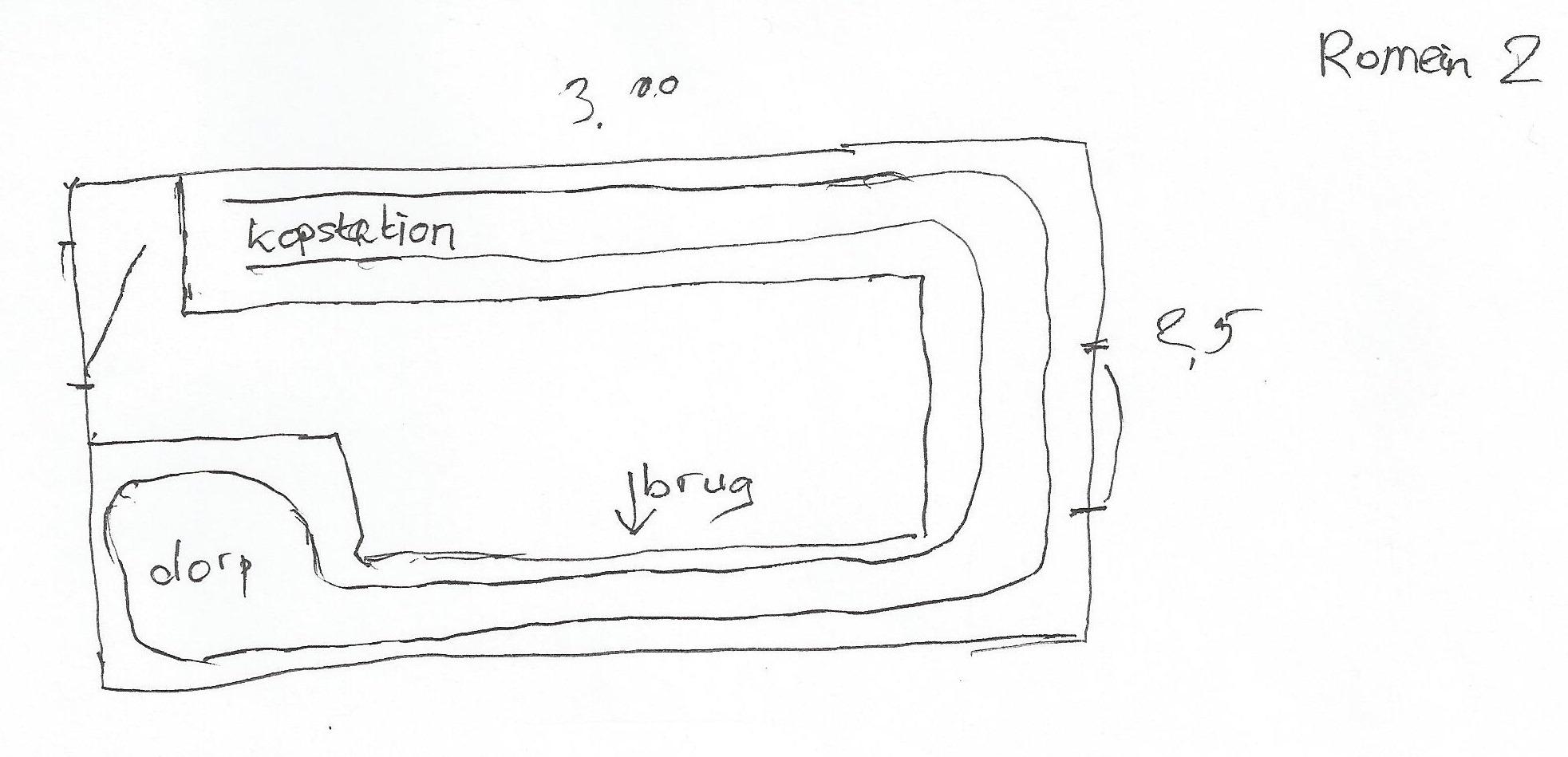 Voorbeeld schets-2 oude romeinse brug